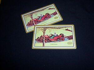 Triple A Car Insurance >> Details About 2 Single Aaa Triple A Playing Cards Vintage Car Insurance To The Rescue Lady