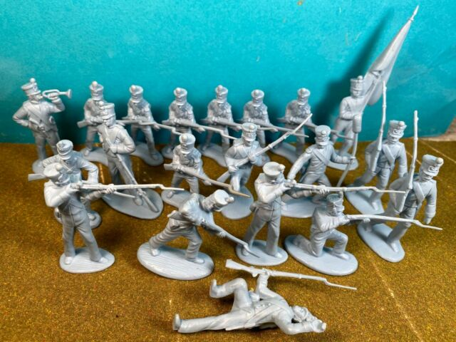 Classic Toy Soldiers 54mm Alamo Mexicans Shako hats 1/32 plastic fit Marx Conte