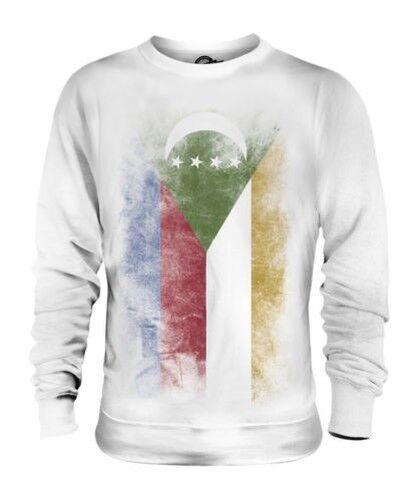 Comores Décoloré Drapeau Unisexe Pull Komori Comores Juzur Al-Qamar Comorienne