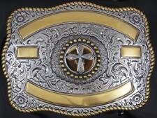 Crumrine Western Mens Belt Buckle Scalloped Buck Gold Silver 38062