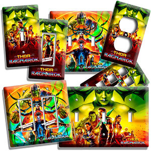Details about THOR RAGNAROK HULK SUPER HERO LIGHT SWITCH OUTLET PLATE MAN  CAVE NEW ROOM DECOR