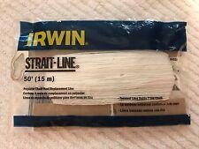 IRWIN 64550 STRAIT-LINE REPLACEMENT STRING/LINE CHALK/REEL - 50 FEET - FREE SHIP