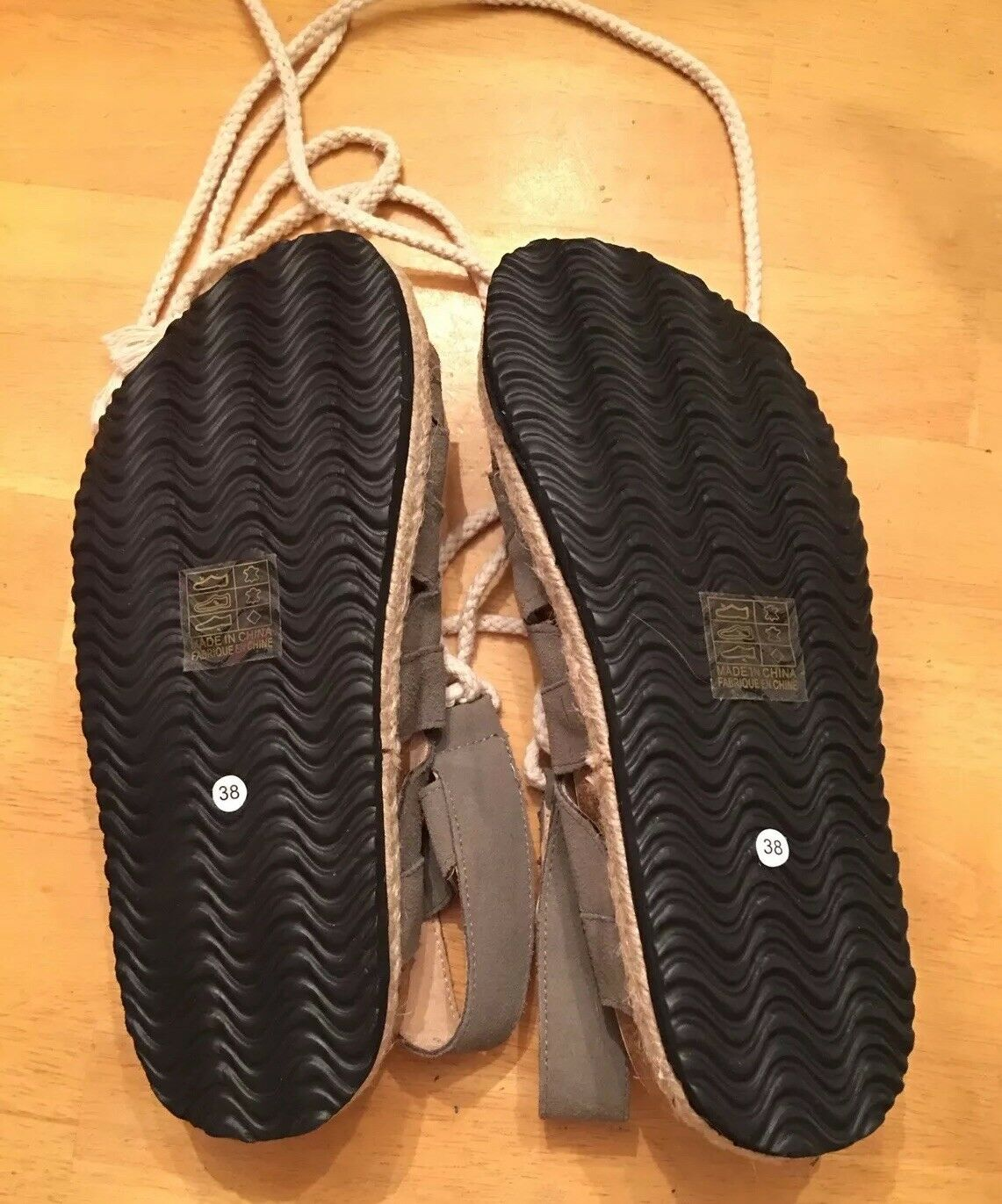 FREE FREE FREE PEOPLE  BOHO HIPPIE BIRK STYLE LACE UP SANDALS Dimensione  38 NWOB KHAKI verde 9bfb8b