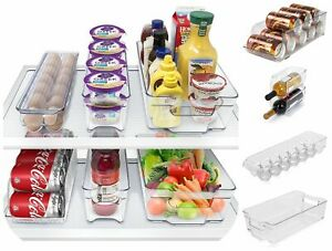 Fridge-Space-Saver-Container-Drinks-Can-Holder-Storage-Rack-Box-Tray-Addis