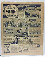 """Original Vintage Poster """"The Lost Valley of Tibet"""" 1936"""