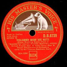 "Ernest Frank & very Terry & Beecham ""Macbeth"" vegliammo invan due notti g3231"