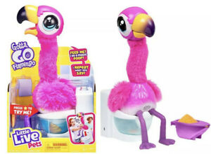 Little Live Pets IN HAND Pink Bird FAST FREE SHIPPING Poops Gotta Go Flamingo