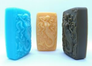 Details about Mermaids soaps  Handmade  Essential Oils  Gift soaps  Colors   Skin friendly  UK