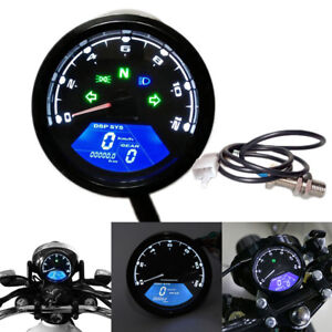 Universal-LCD-Digital-Odometer-Speedometer-Tachometer-Motorcycle-MotorBike-DI-EV