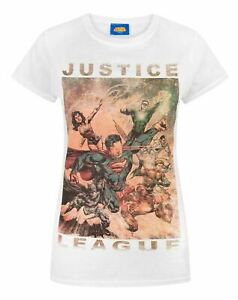 Justice-League-Characters-Action-Women-039-s-T-Shirt