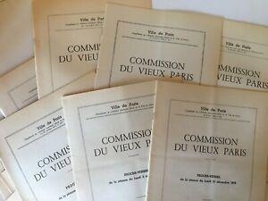 Commission du Vieux Paris rapport projets de DEMOLITION procès-verbal 1979-1981