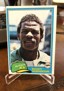 1981 Topps Rickey Henderson Oakland Athletics #261 Baseball Card 2nd Year HOF