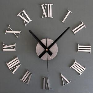 Large-3D-Wall-Clock-Luxury-Mirror-Sticker-Home-Decoration-DIY-Bedroom-2-Color-JA