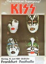 KISS 1980 orig. Concert - Konzert - Tour Poster - Plakat  Din A1