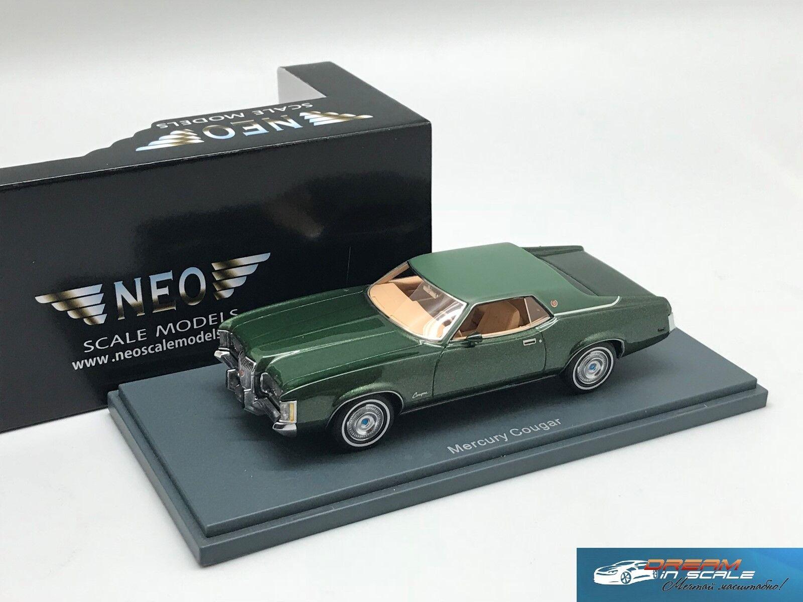 Mercury Cougar coupe verde Mettuttiic   verde 1971 NEO44735 1 43