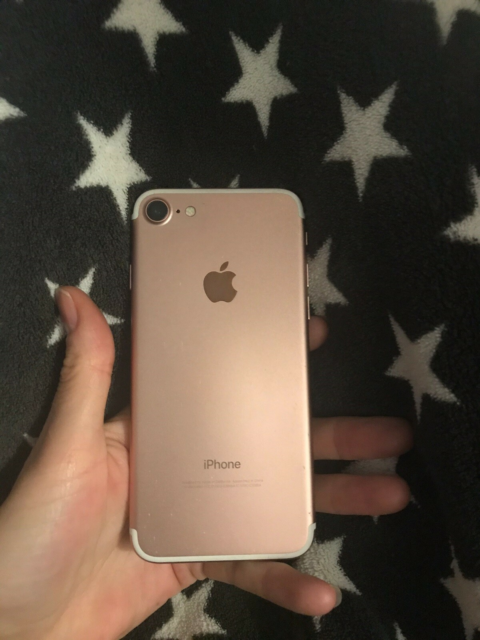 iPhone 7, 128 GB, pink, Perfekt
