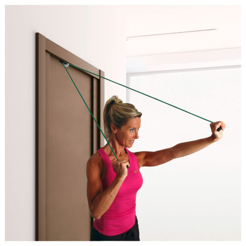 Shoulder Rope Pulley-Set Fitness Seil Gymnastik inkl Handgriffe und Befestigung