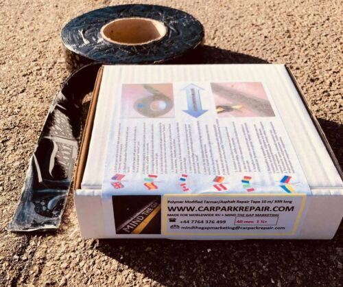Burn On Overbanding Tape Asphalt Jointing 10 METRES x 40mm WIDE Tarmac Overband