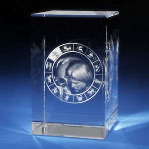 3d Laser Crystal Glass Etched Engraving Stand Zodiac