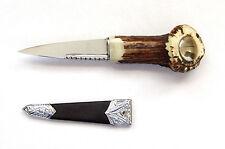 Sgian Dubh (Scottish Knife) Dirk Genuine Crown Stag Handle - BOTTOM PRICE!