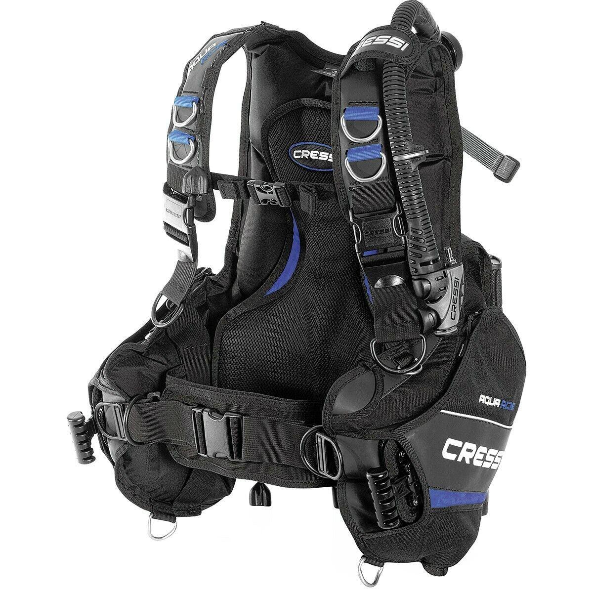 Cressi Aquaride Blau Pro Weight Integrated Scuba Diving BC Dive BCD XL X-Large