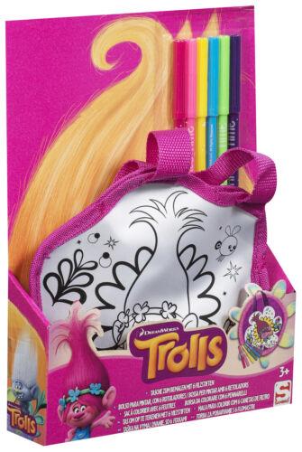 Troll colore il tuo carattere Borsa Tote Bag Borsa Regalo di Natale Giocattoli Creativi