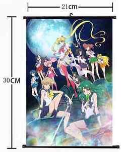 Anime Sailor Moon Crystal Wall Scroll Home Decor Poster Cosplay Gift 1382