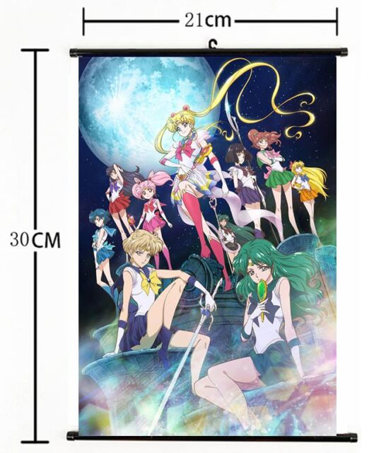 ac37c553f059 Hot Anime Sailor Moon Crystal Wall Poster Scroll Home Decor Cosplay ...