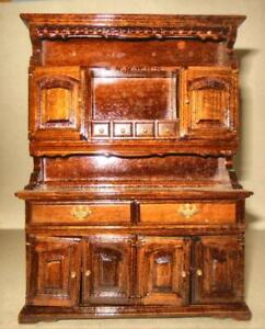 buffet hutch pine vintage museum collection 4305 dollhouse rh ebay com antique buffet hutch belleville antique buffet hutch for sale