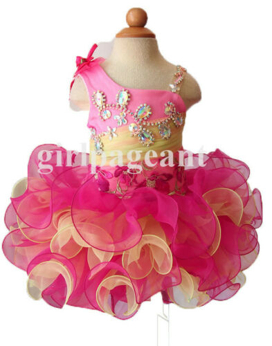 Infant//toddler//baby//children beading Pageant Dress 106-7 with hairbow