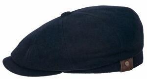 cd054eaf38 Details about Stetson Hatteras Wool/Cashmere Mix Newsboy Cap