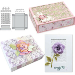 Flower-Gift-Box-Cutting-Dies-Stencil-Scrapbooking-Craft-DIY-Embossing