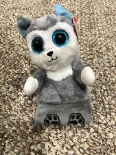"""6/"""" TY Peek-A-Boos Phone Holder With Tag Soft Scout Husky Dog Plush Stuffed Toys"""