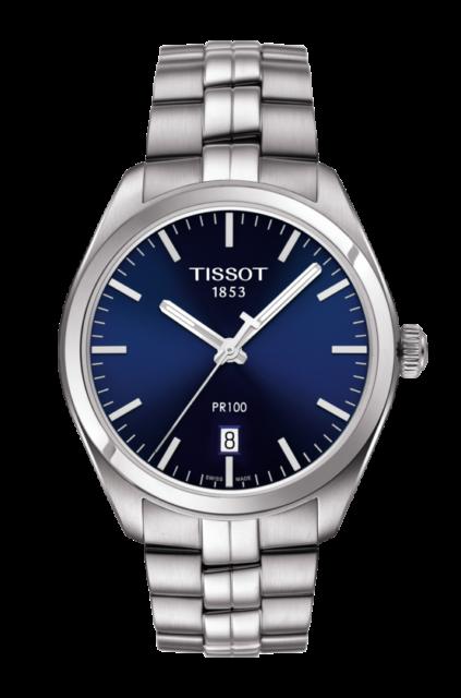 New Tissot PR 100 Blue Dial Stainless Steel Men's Watch T101.410.11.041.00