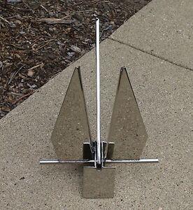 3-3-lb-1-5-kg-Mirror-Polish-Danforth-Fluke-Style-316-Stainless-Steel-Boat-Anchor