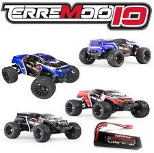 Redcat Terremoto 10 V2 (NEW*80amp, 3S LIPO BUNDLE) 4X4 Monster Truck or SUV