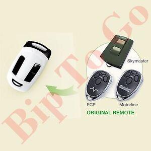 Télécommande compatible rolling code Motorline, Skymaster, Ecp code 1, code 2