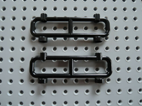 Lego 2 x Zaun Absperrung 2486 schwarz 1x8x2
