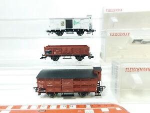 Bj116-0-5-3x-Fleischmann-h0-dc-vagones-DRG-5208-5357-Pilsner-5366-Neuw-embalaje-original