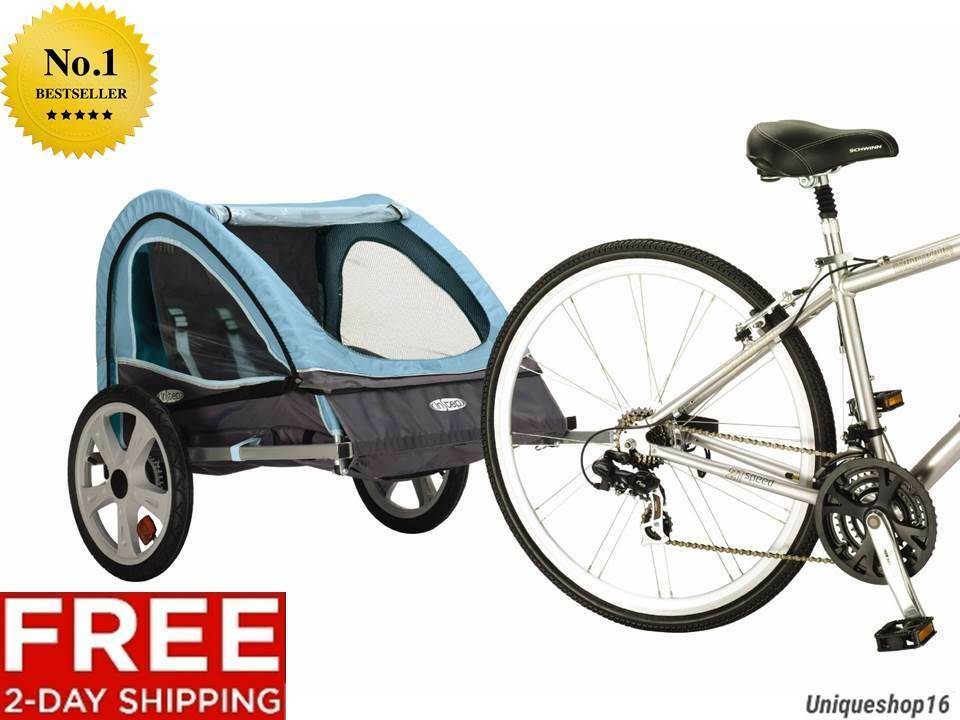 NEW INSTEP TAKE 2 DOUBLE BICYCLE BIKE KIDS BABY PET TRAILER FOLDING FRAME KIDS