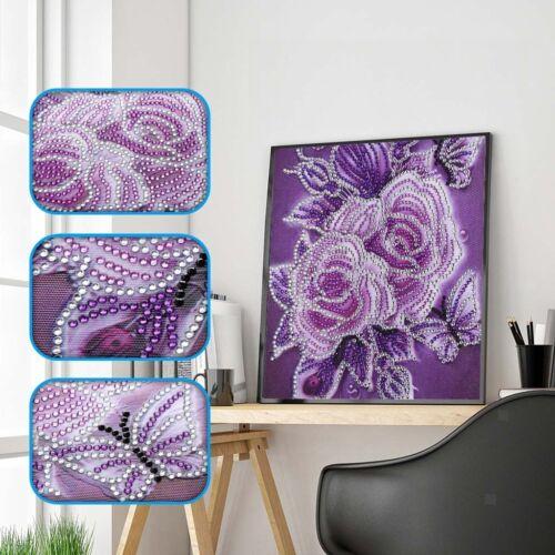 DIY 5D Diamant Painting Set Diamant Malerei Kristall Strass Stickerei Blumen