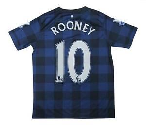 Manchester United 2013-14 ORIGINALE AWAY SHIRT ROONEY #10 (eccellente) XL Ragazzi
