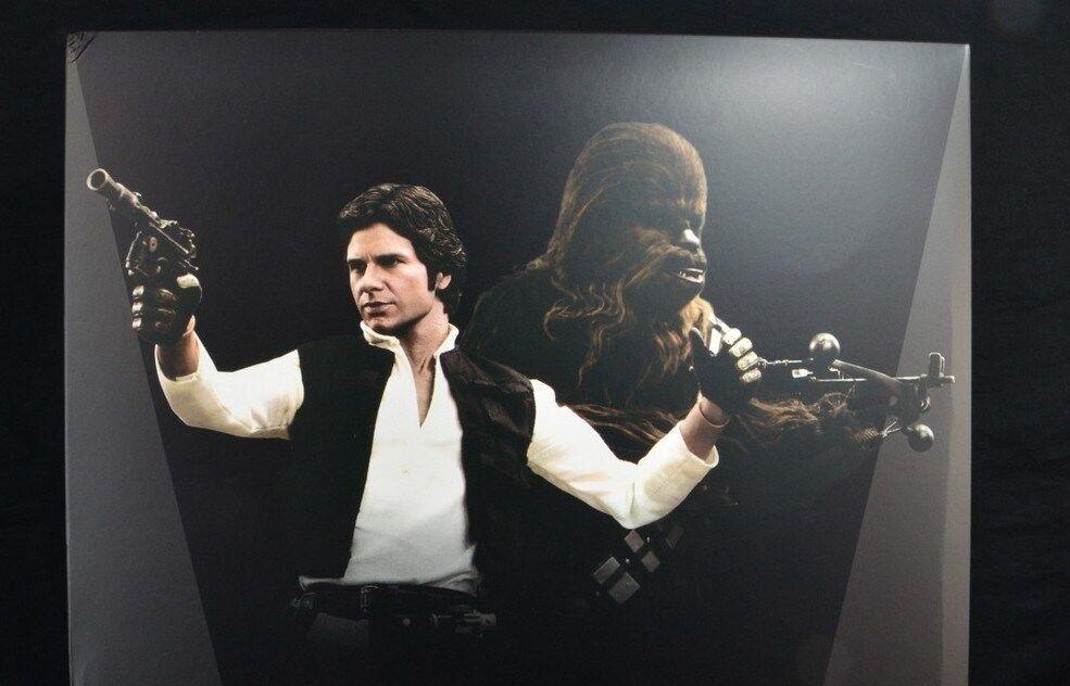 Han Solo och Chewbacca heta leksaker Sixth skala Figur Set