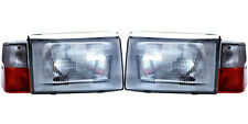 VOLVO 240 244 86-93 EUROPEAN E CODE GLASS CONVERSION HEADLIGHT ASSEMBLY SET