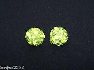 Mon ChéRi Années 50er Boucles D'oreilles Clips Vintage Vert Clair/vert Verre Bijoux (94)-afficher Le Titre D'origine Acheter Un En Obtenir Un Gratuitement