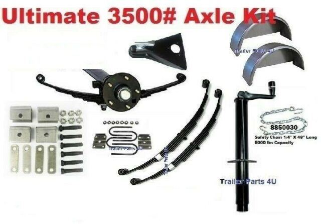 3500 lb 3.5K 95-80 6154618 Idler Dexter Axle With Springs Build-A-Trailer Kit