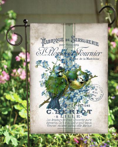 French Blue Bird   Double Sided Soft Garden Flag     **GARDEN SIZE**   FG1066