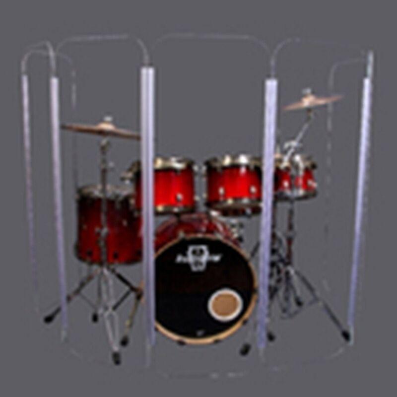 Drum Shield Drum Screen Drum Shield Panels with Living plastic Hinges DS6L