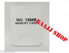 Nuevo almacenamiento de datos de tarjeta de memoria 16MB Para Nintendo Wii & Gamecube vendedor del Reino Unido