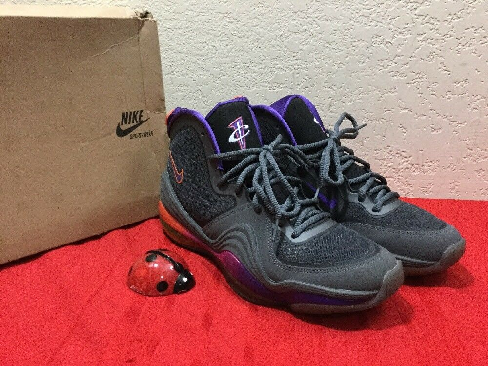 83854c8e115d Nike Air Penny V V V  537331-070  NSW Basketball Dark Grey Purple ...